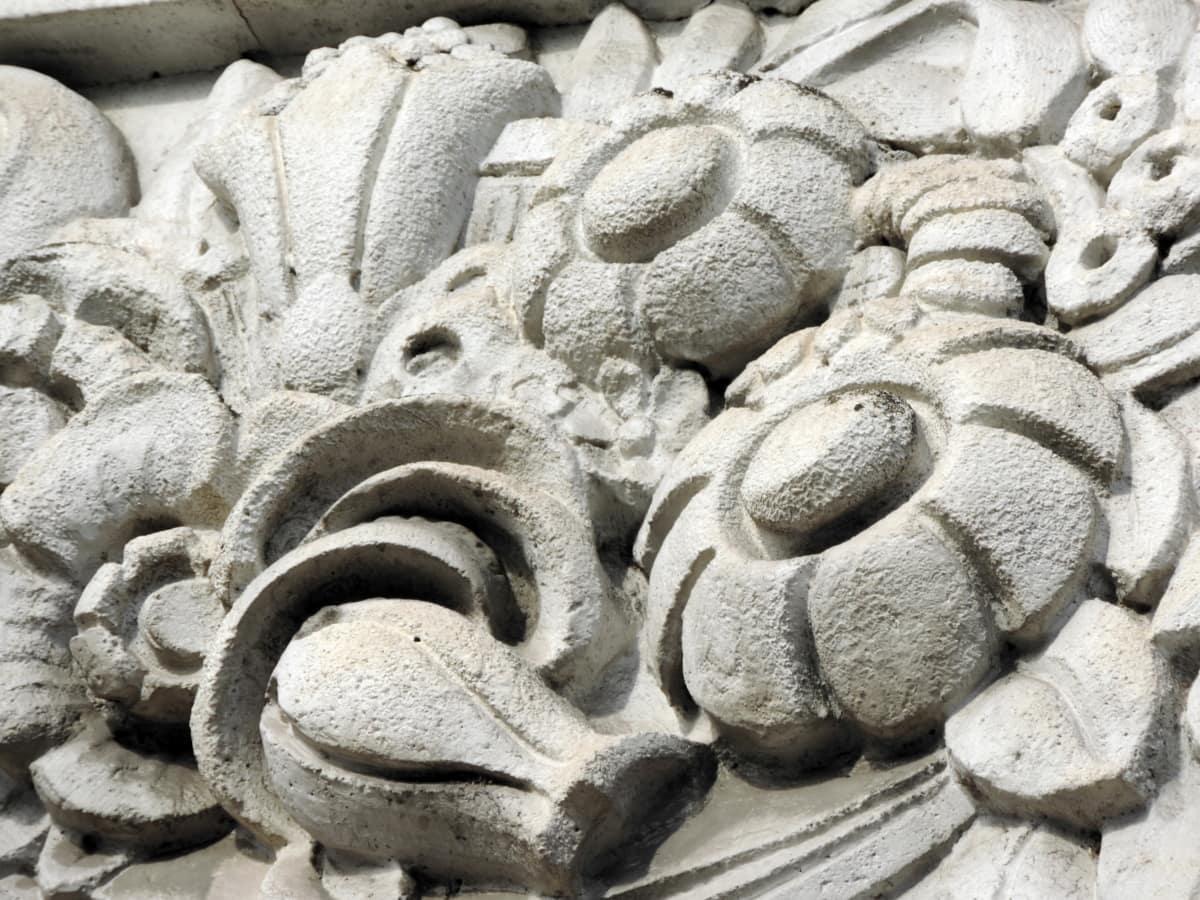 barok, detalj, reljef, skulptura, kamena, tekstura, pogled iz blizine, uzorak