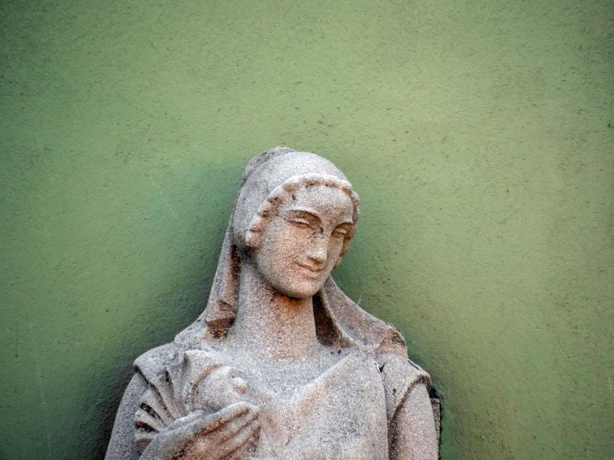 en détail, mur, baroque, buste, statue de, gens, Portrait, art