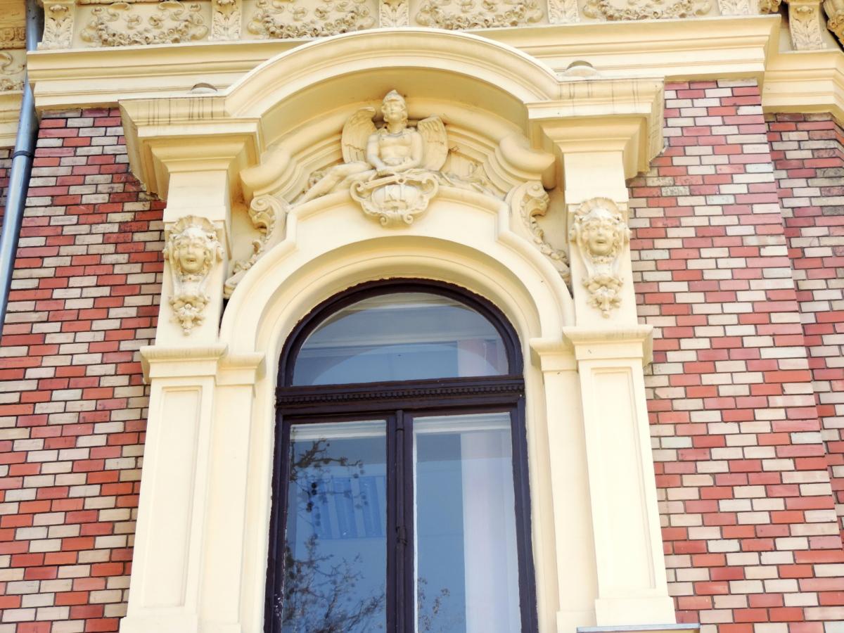 barok, skulptur, arkitektur, bygning, hus, facade, rejse, vindue