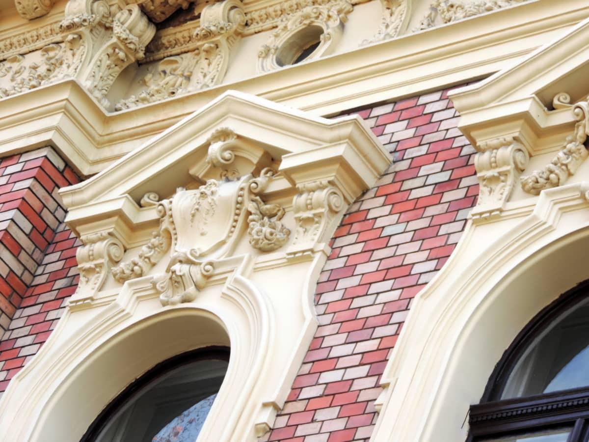 baroque, bricks, decoration, architecture, building, design, city, culture