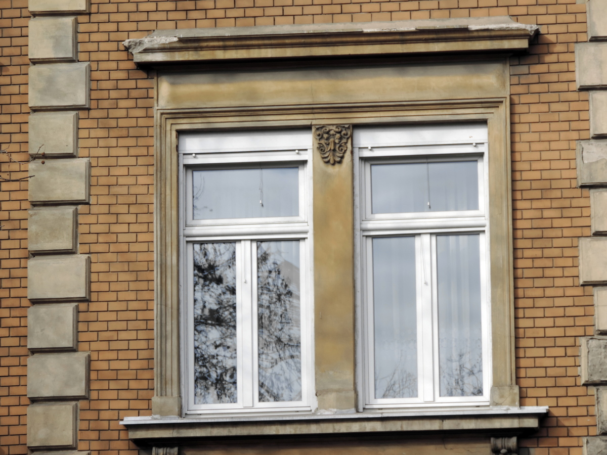 cihla, dekorace, staré, okno, architektura, budova, dům, zeď