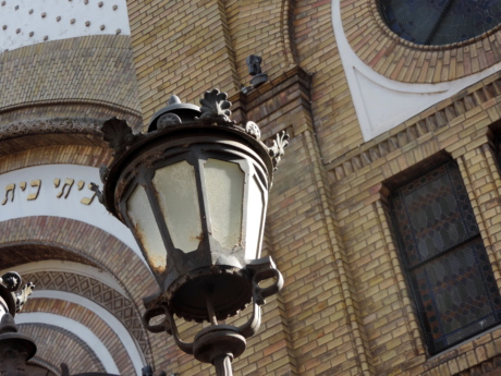 cast iron, decoration, lantern, religious, device, architecture, old, building