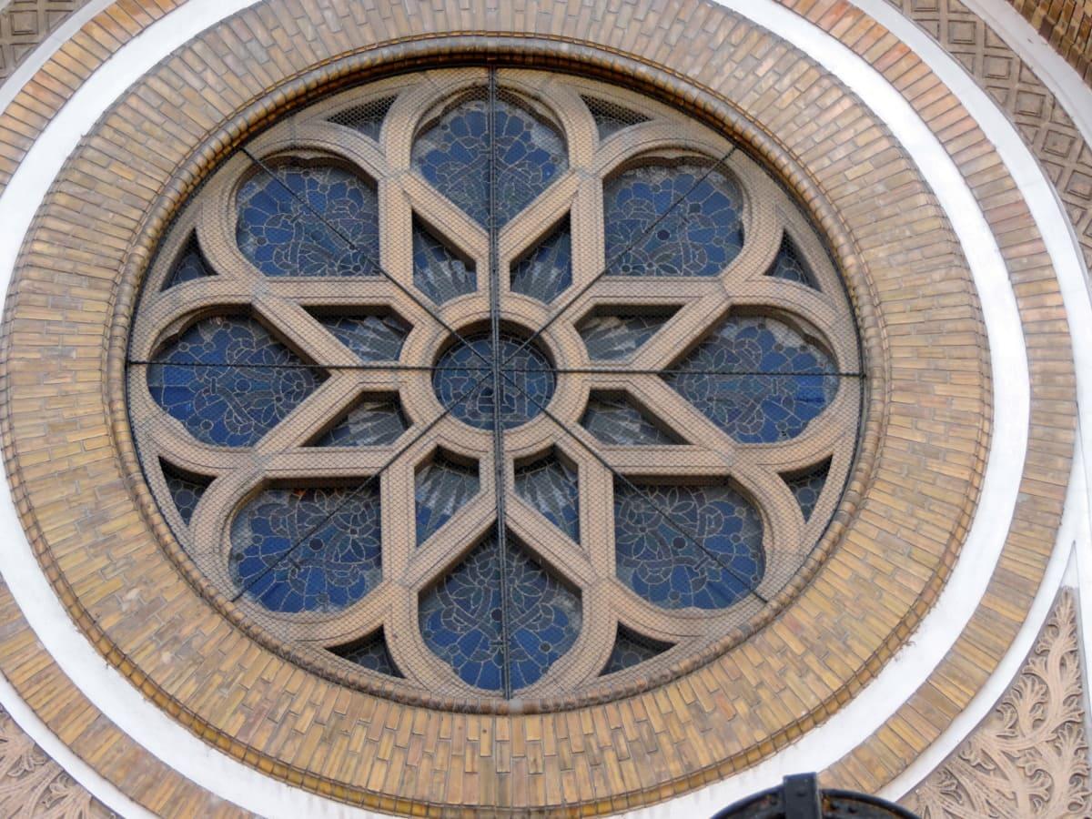 art, brick, mosaic, religion, window, framework, architecture, building