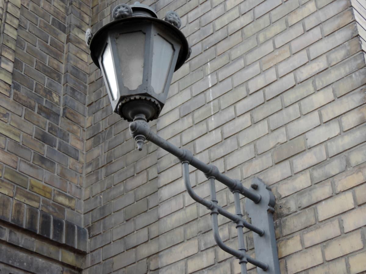 Valurauta, sisustus, julkisivu, lamppu, rakentaminen, seinä, lyhty, laitteen