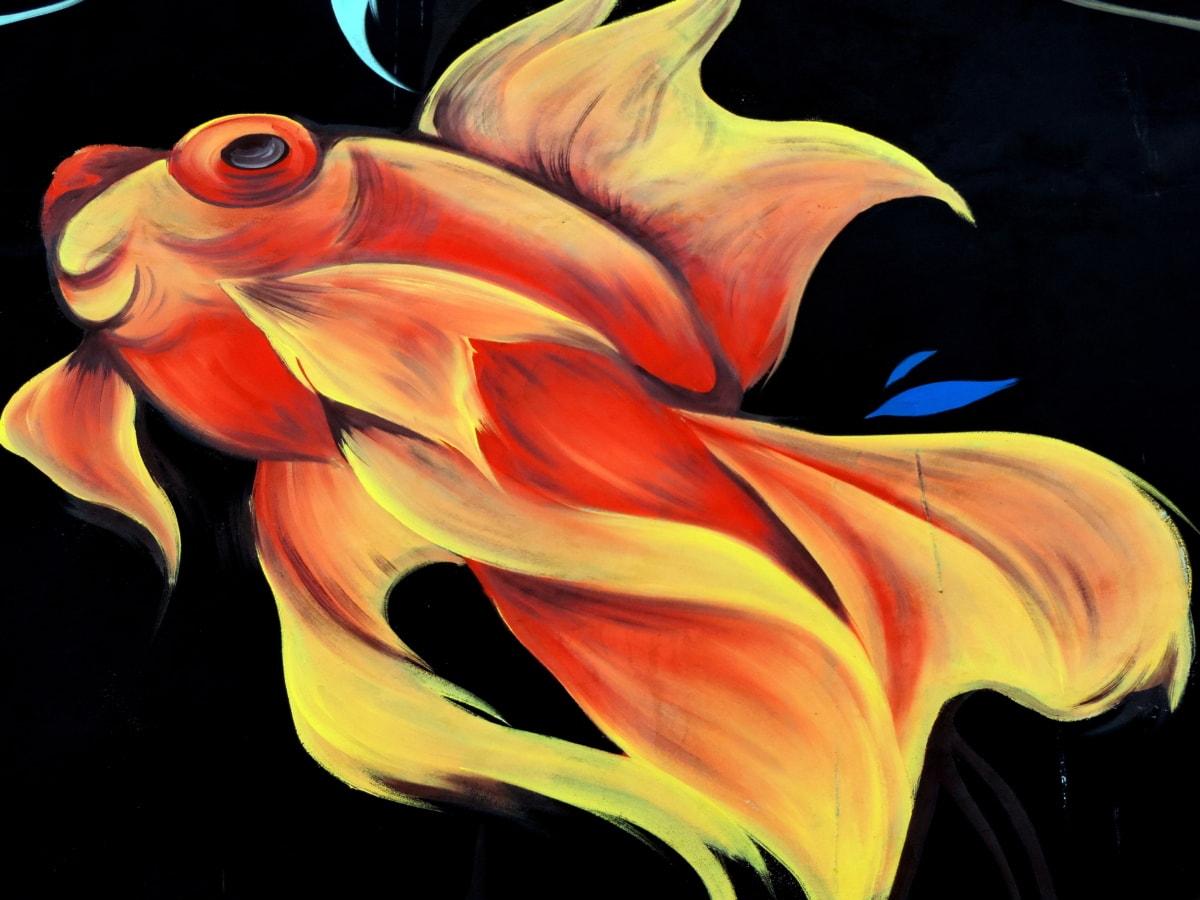 魚, 落書き, 壁画, 色, 明るい, アート, デザイン, 美しい