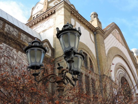 autumn season, cast iron, facade, religion, residence, architecture, building, lamp