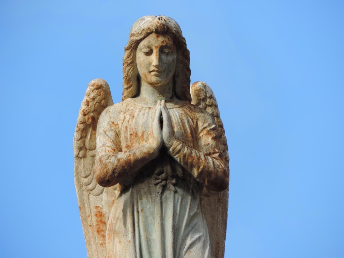 Anioł, sztuka, barok, Modlitwa, religia, święty, Rzeźba, duchowość