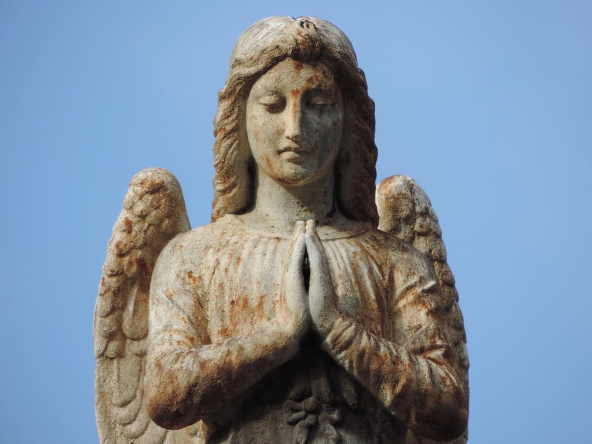 Angel, kunst, buste, uskyld, Køn, skulptur, hvid, kvinder