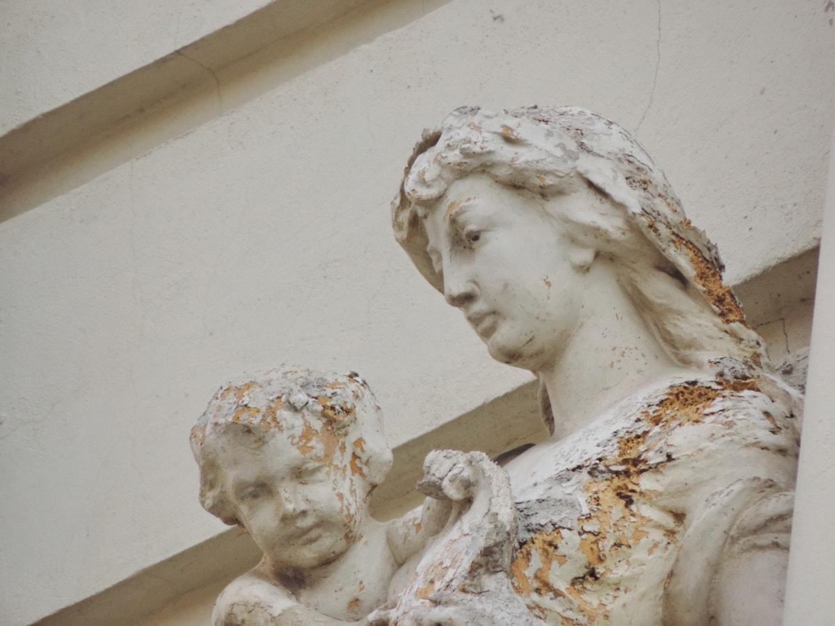 barok, kind, vrouwen, standbeeld, beeldhouwkunst, kunst, marmer, oude