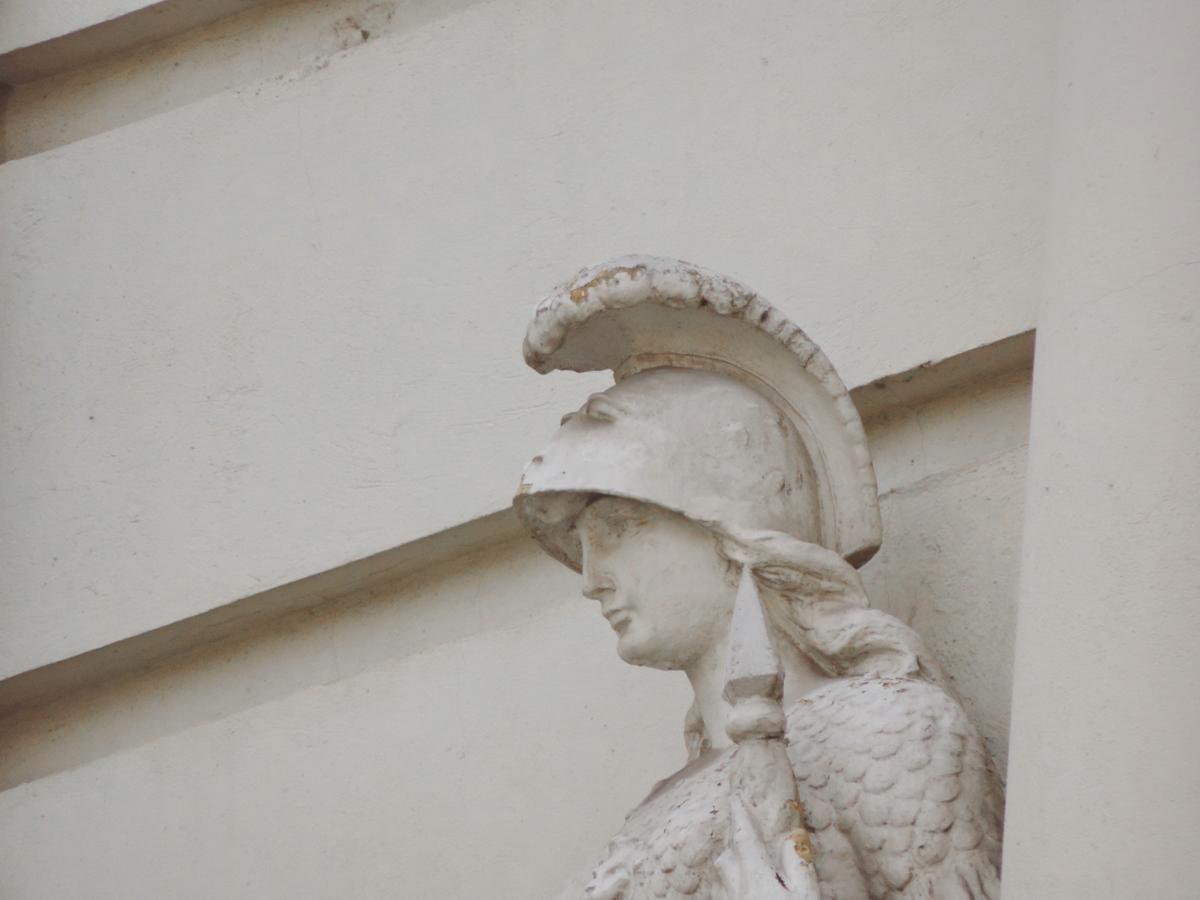 Busta, ručně vyráběné, pájení, sochařství, architektura, socha, umění, budova