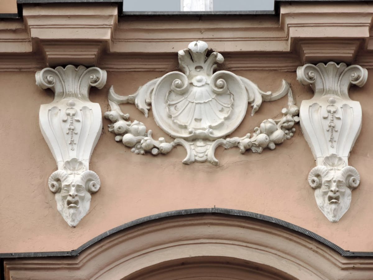baroque, héraldique, fenêtre, architecture, lampe, sculpture, décoration, antique