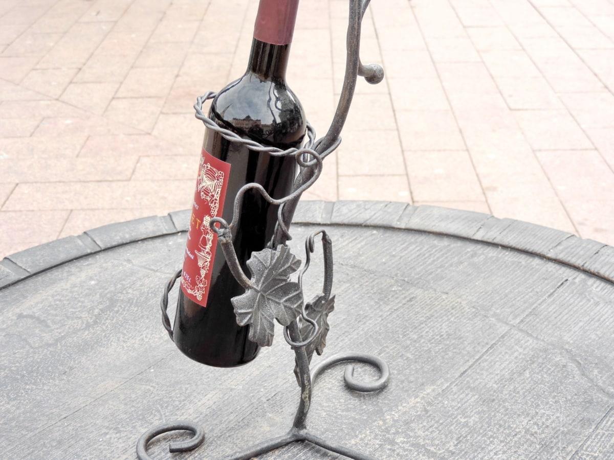 arte, bottiglia, ghisa, vino, Azienda vinicola, ruota, Via, marciapiede