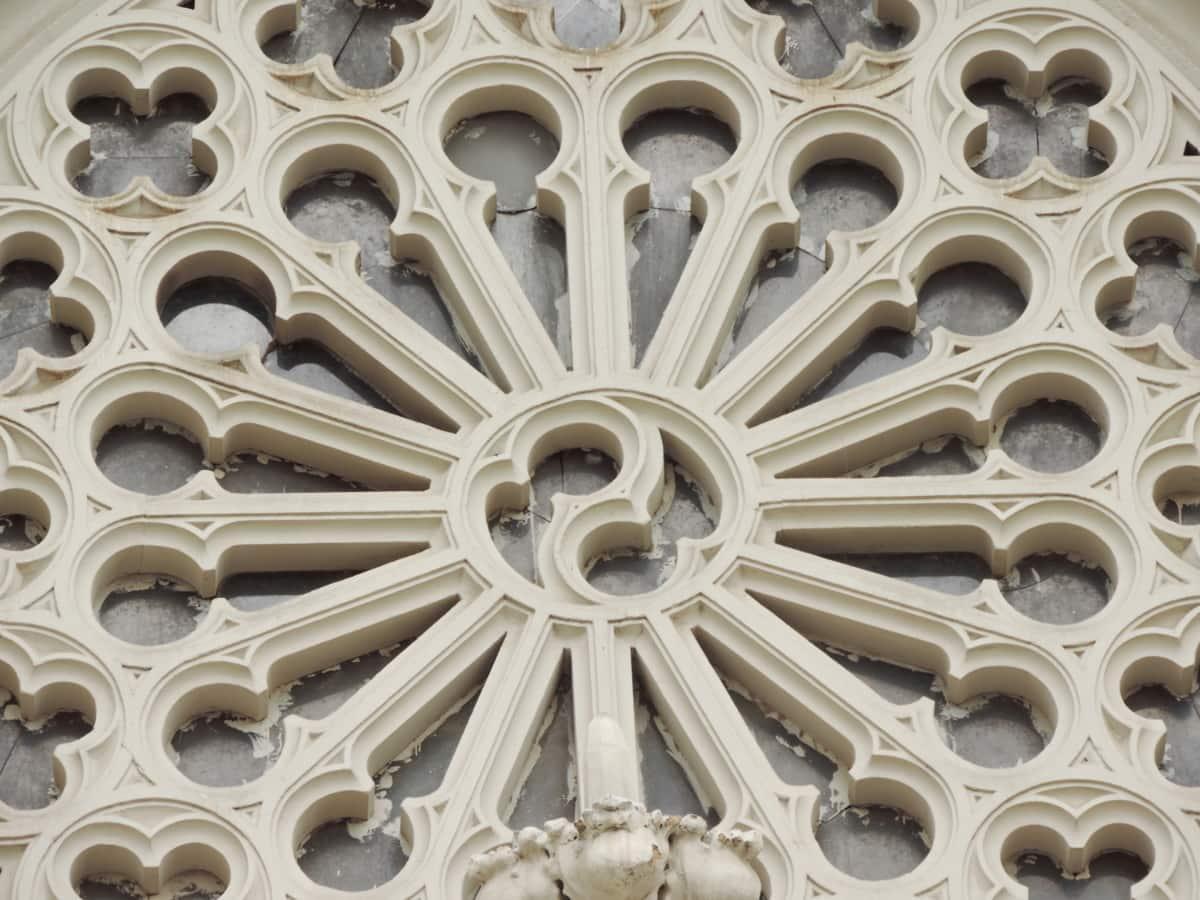 barokk, keret, ablak, építészet, épület, templom, kifejezés, kő