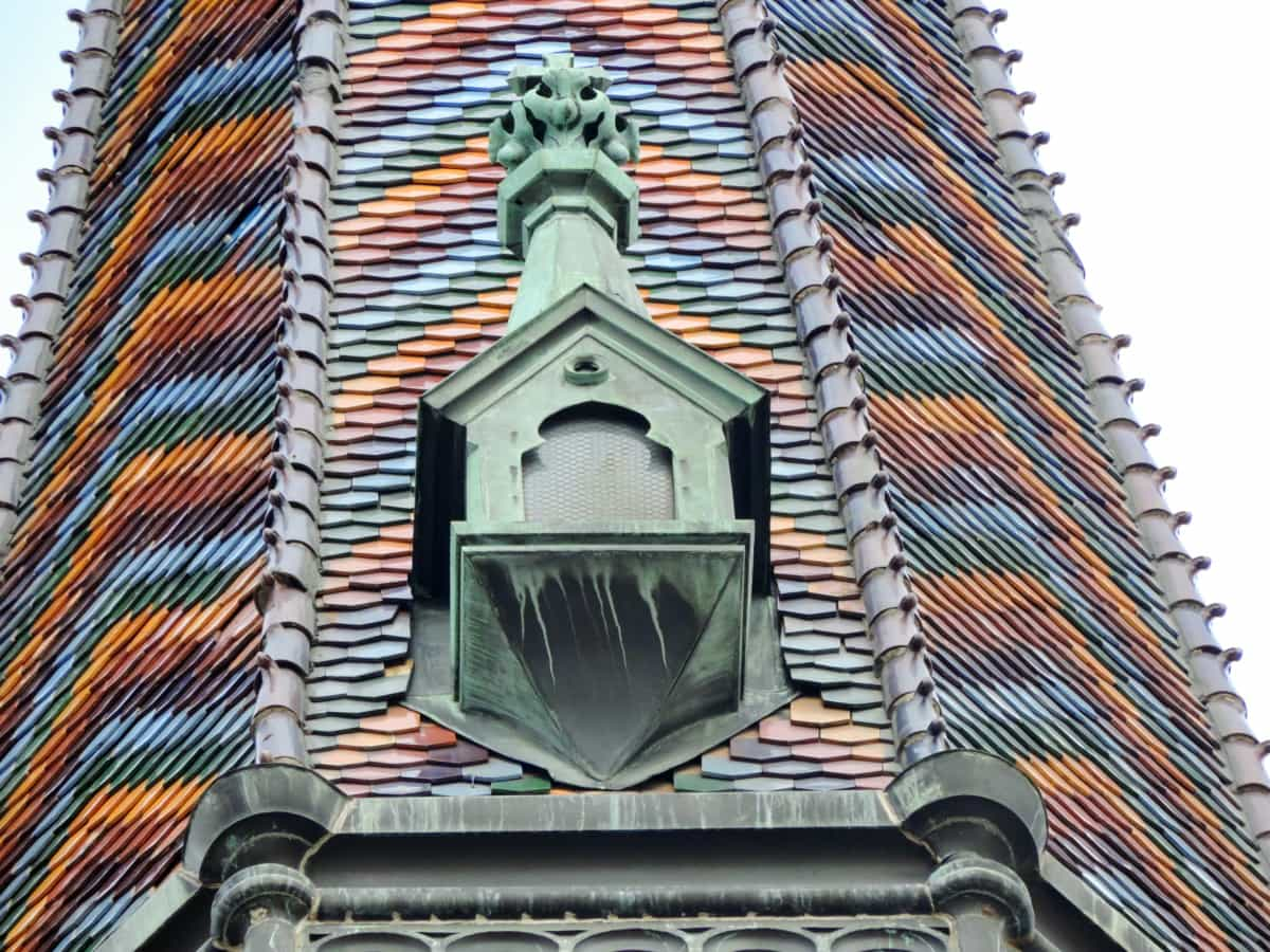 baroque, cast iron, church tower, copper, religious, rooftop, roofing, tile