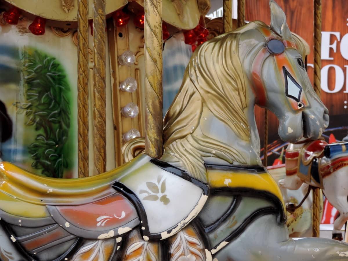 lelu, karuselli, mekanismi, ratsastaa, Carnival, perinteinen, festivaali, juhla