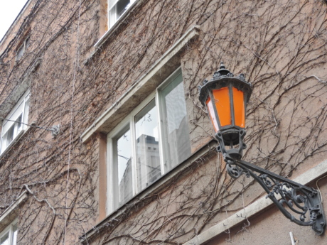facade, lantern, building, house, architecture, old, wall, outdoors