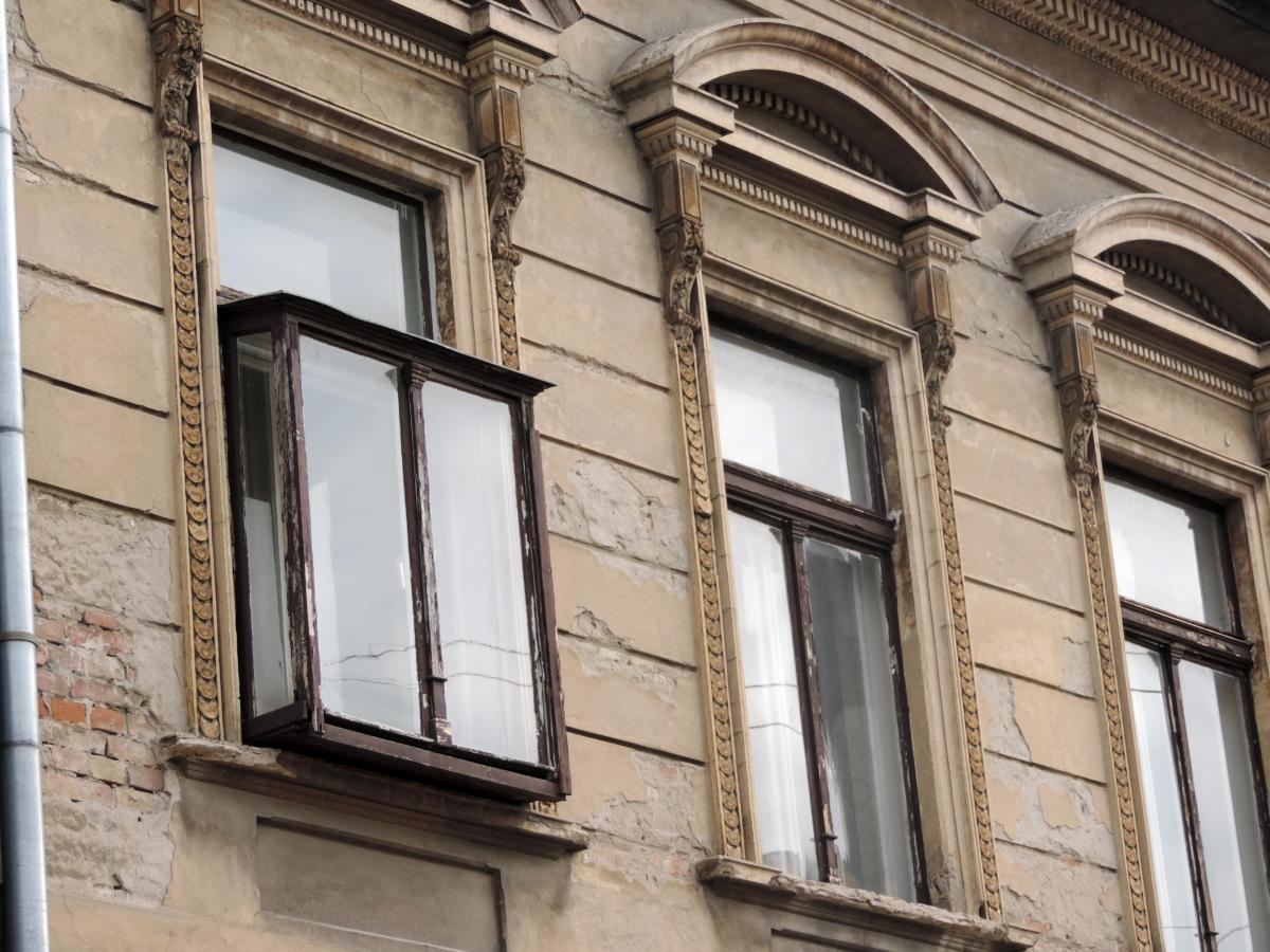 oblouk, barokní, fasáda, budova, balkon, okno, architektura, dům