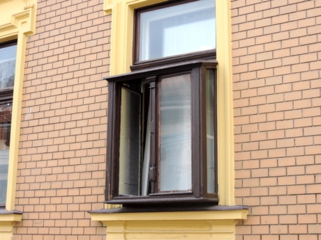 window, sill, architecture, house, wall, brick, facade, building
