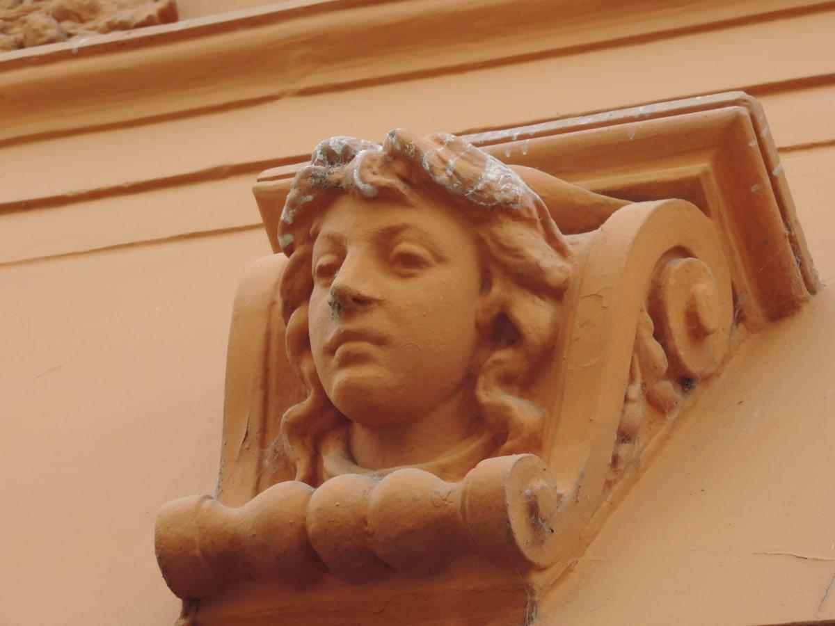 τέχνη, μπαρόκ, προτομή, πρόσοψη, γλυπτική, άγαλμα, άτομα, πέπλο