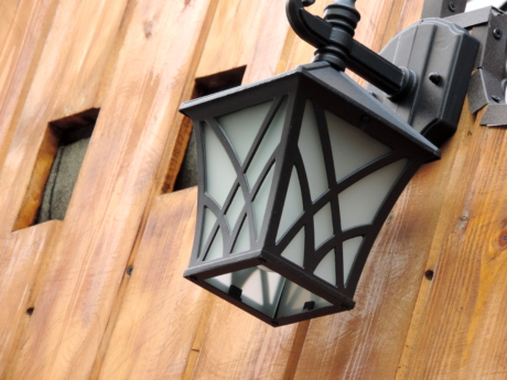 cast iron, lantern, wood, wooden, architecture, house, building, old