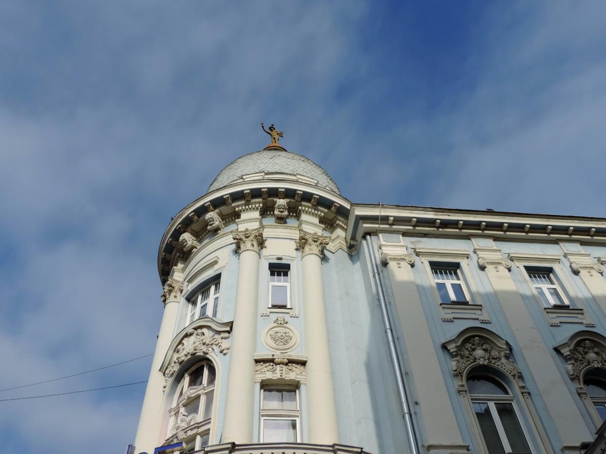 baroque, décoration, façade, patrimoine, ombre, Création de, toit, architecture