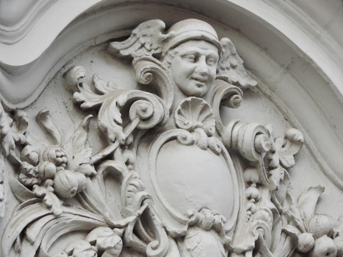 Engel, Barock, Büste, Heraldik, Erbe, weiß, Skulptur, Marmor