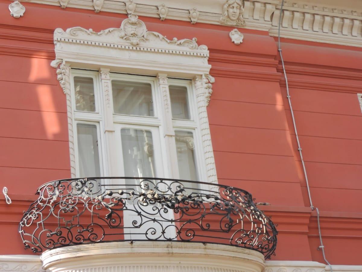 balkon, dökme demir, Hanedanlık armaları, miras, Bina, Cephe, mimari, Klasik