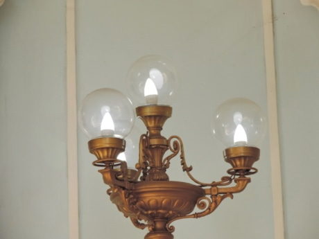 messing, lampe, Chandelier, Boligindretning, indendørs, lys, religion, gamle