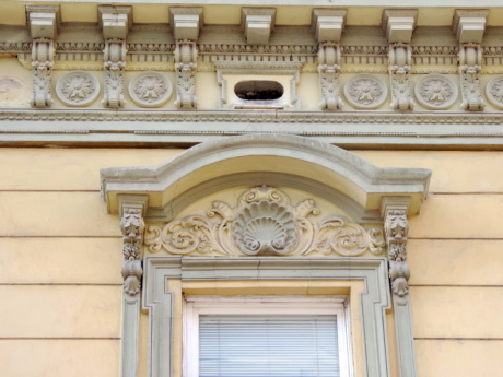 baroque, heritage, relief, facade, architecture, building, house, window