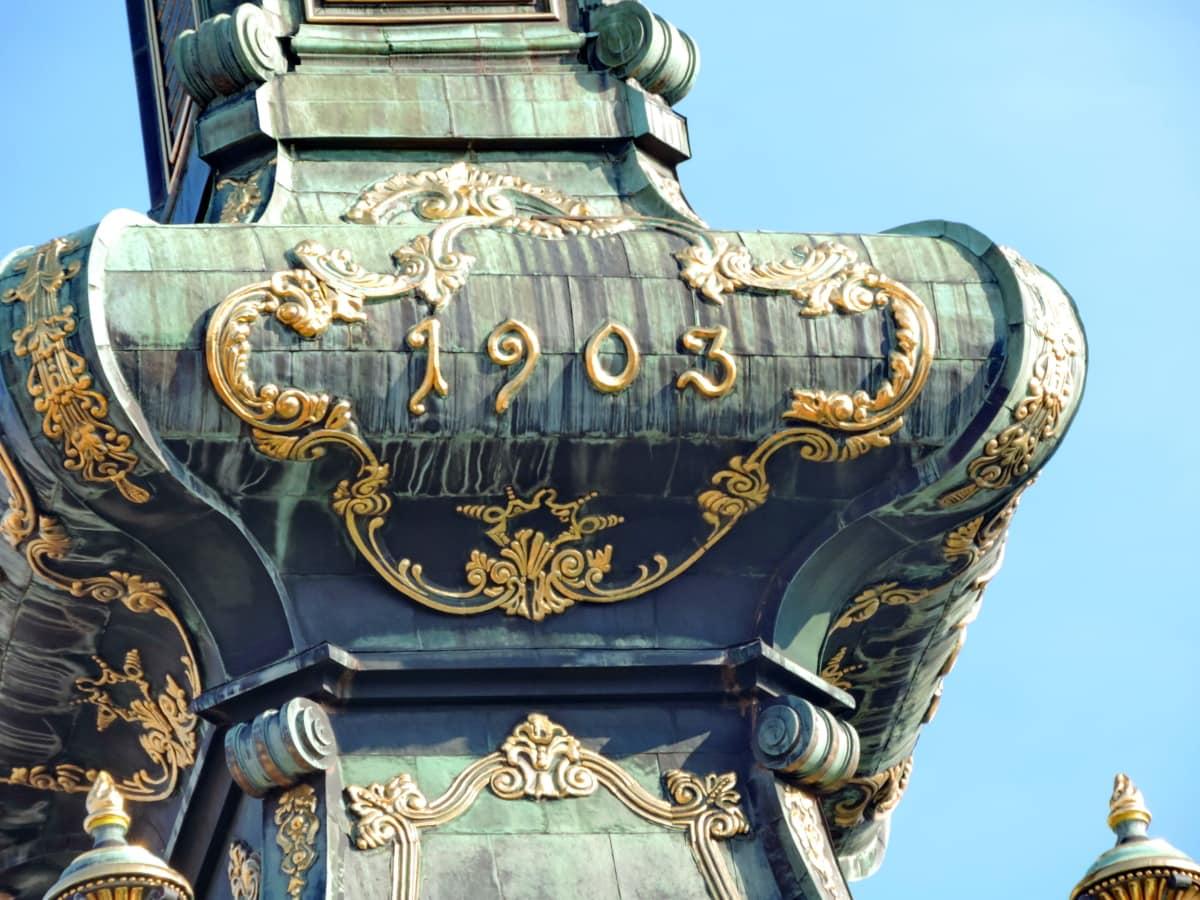 barokní, křesťanství, kostelní věž, ortodoxní, Srbsko, umění, architektura, zlato