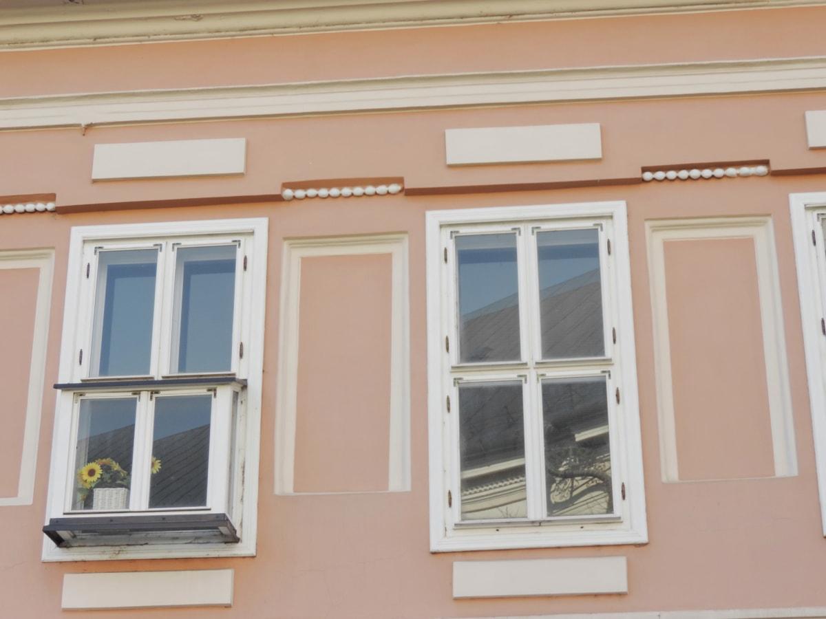 barok, fasada, ručni rad, ulica, suncokret, prozori, Kuća, kuća