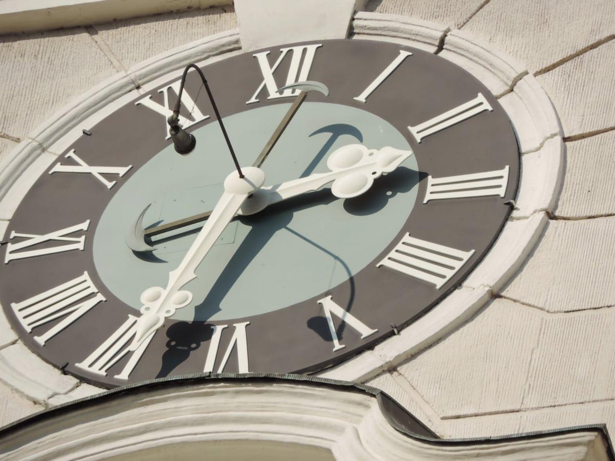 πρόσοψη, ορόσημο, σκιά, χρόνος, Ρολόι, Ρολόι, αναλογικό ρολόι, λεπτό