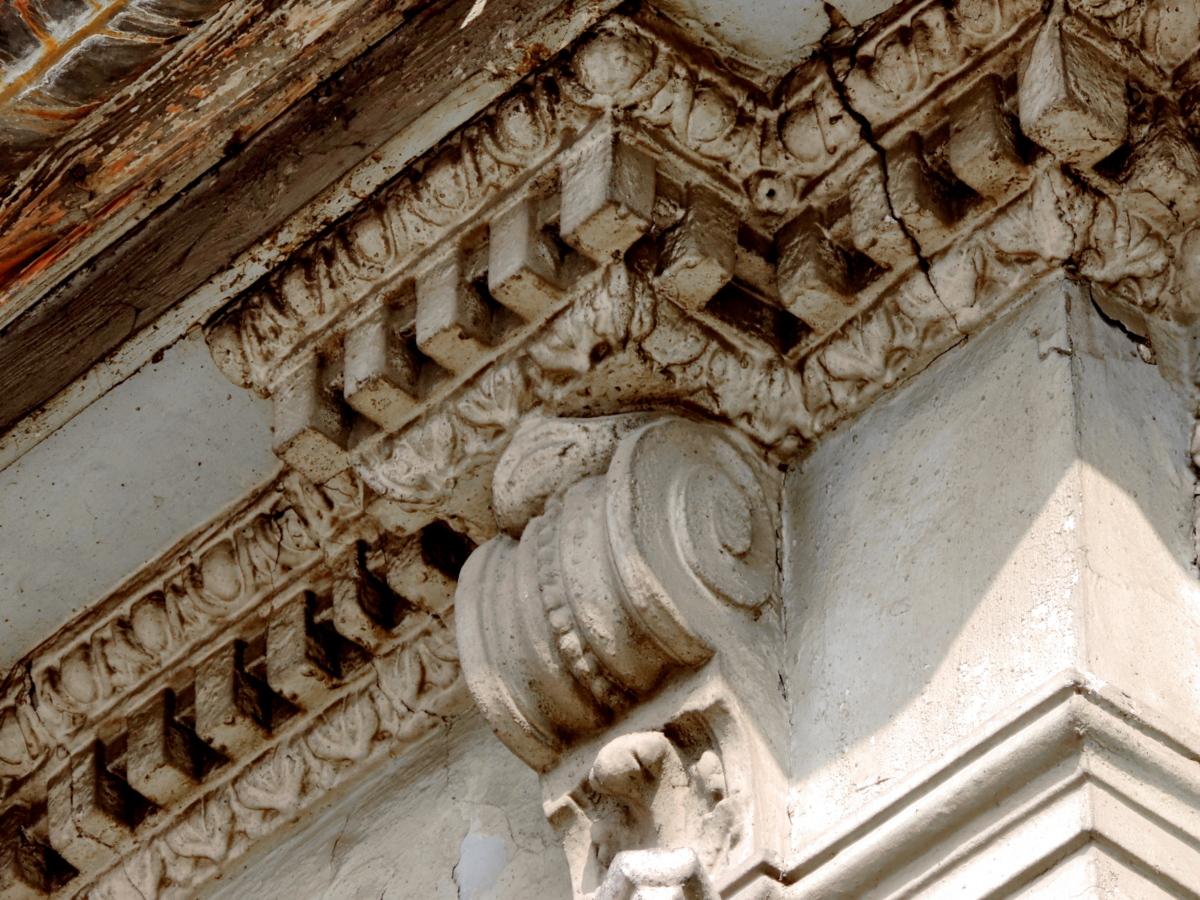 opuštěné, barokní, kultura, ornament, budova, kámen, starověké, zařízení