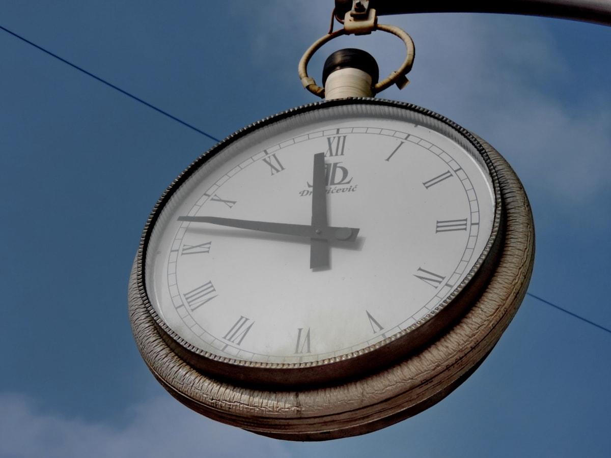analogt ur, store, dekoration, håndlavede, tid, minut, timeren, alarm
