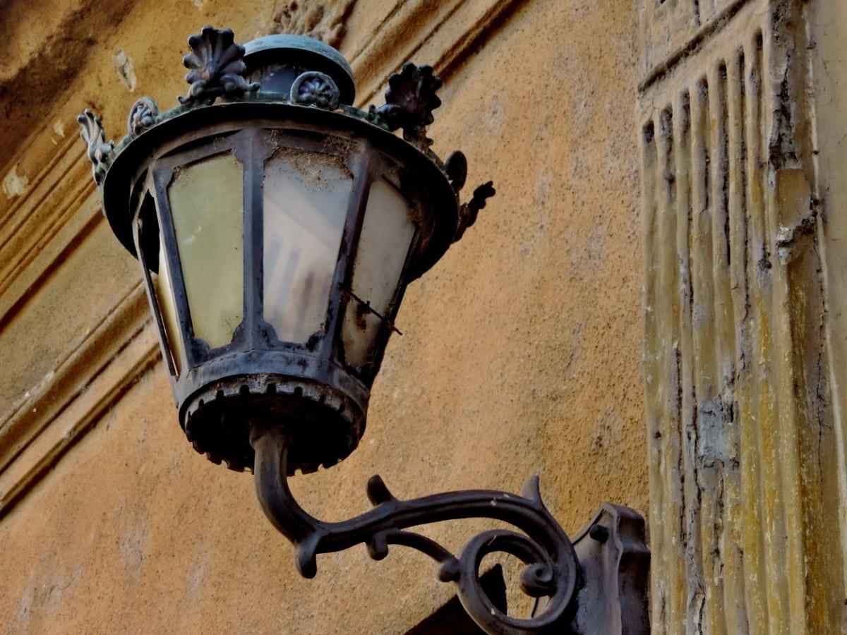cast iron, handmade, old, lamp, lantern, architecture, antique, iron