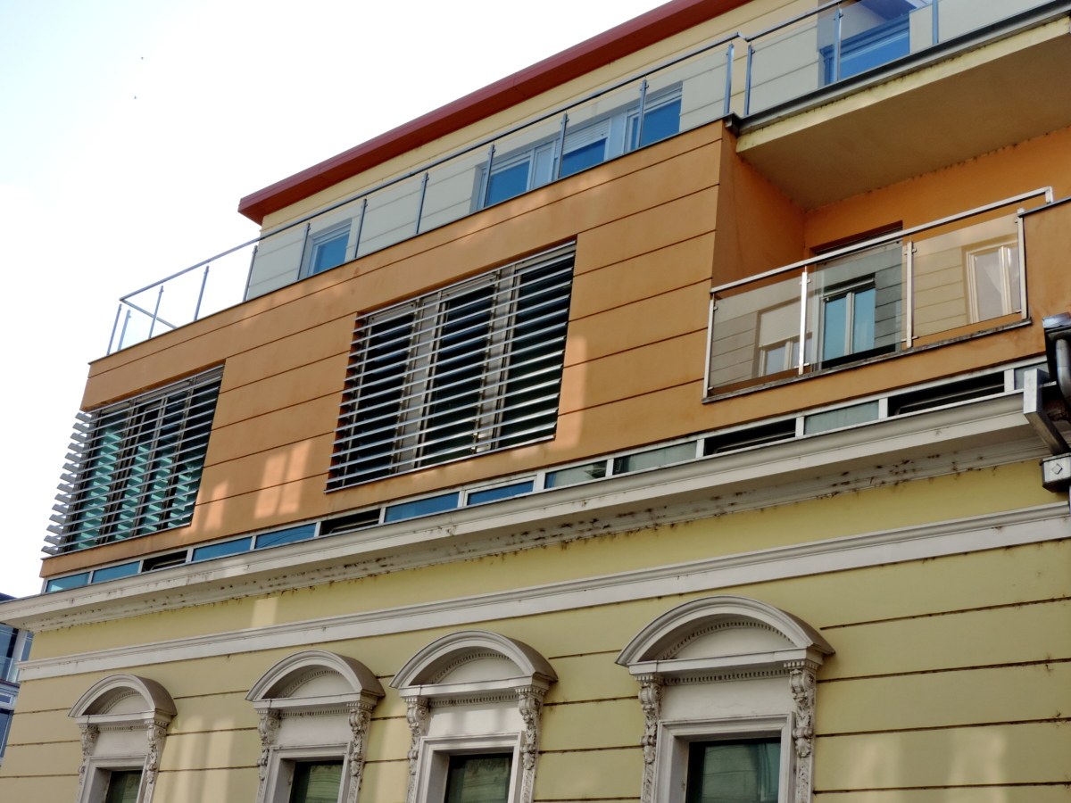 facade, modern, old, building, balcony, structure, architecture, window
