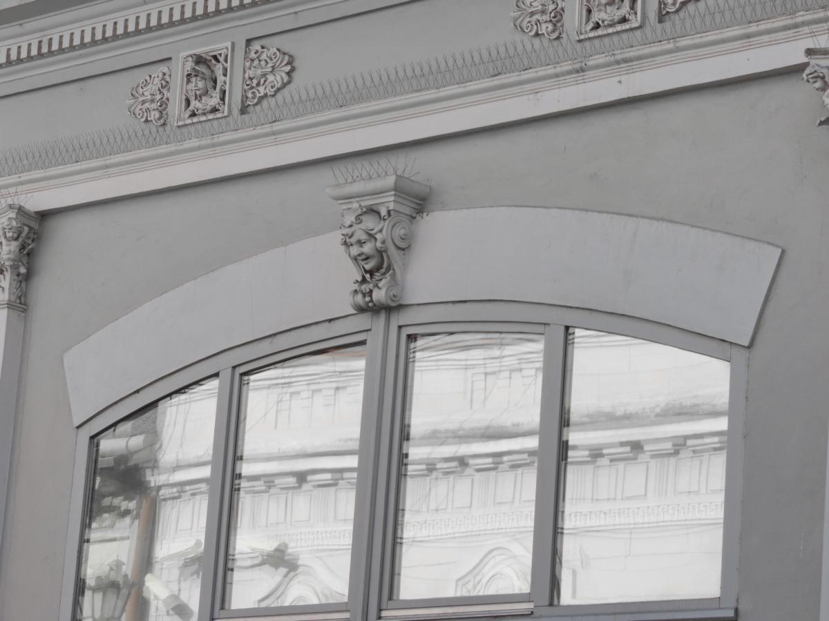 elmélkedés, ablak, építészet, szerkezete, épület, ház, város, városi