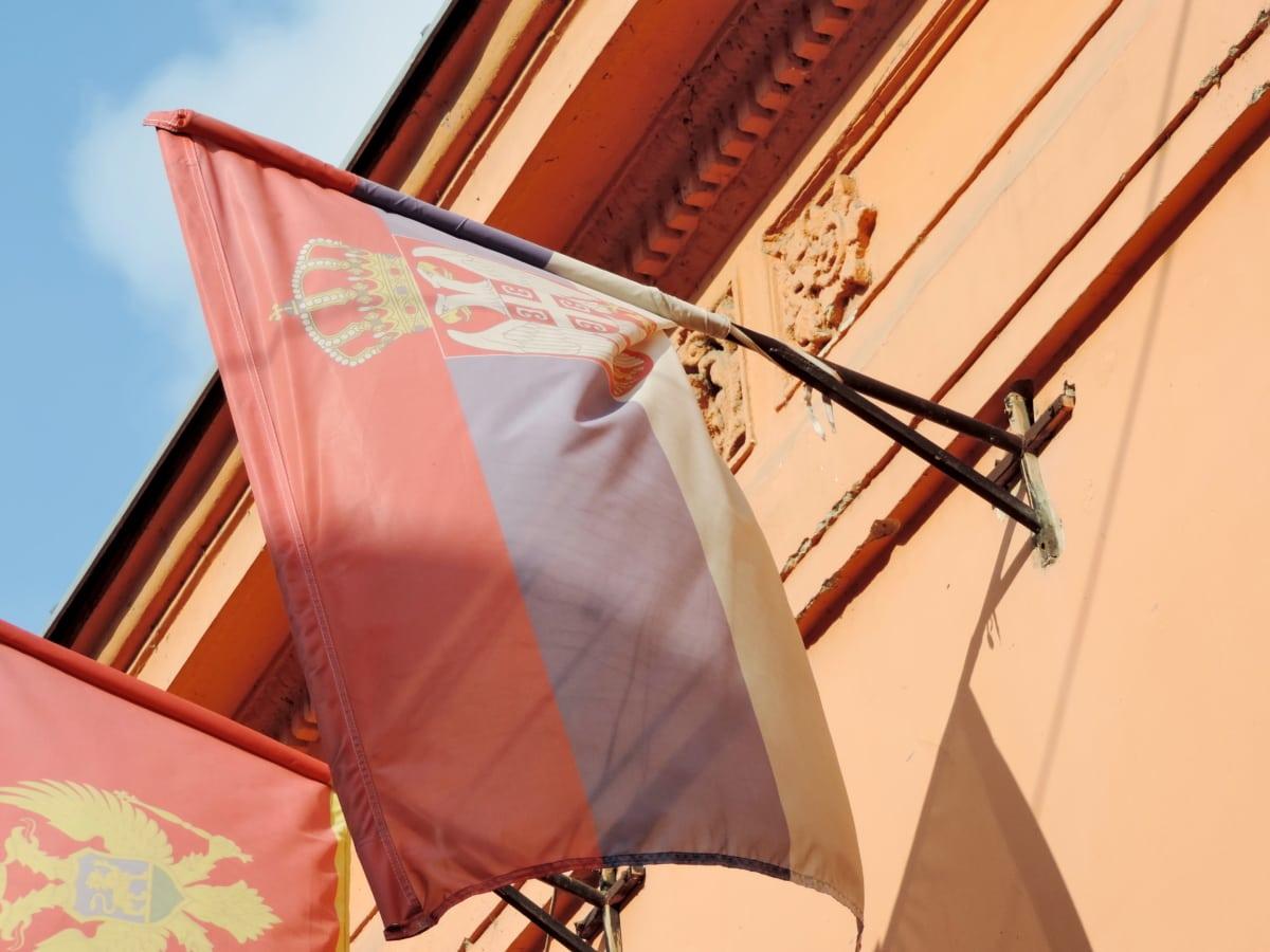 façade, fer, liberté, patriotisme, Serbie, Sunshine, mur, à l'extérieur