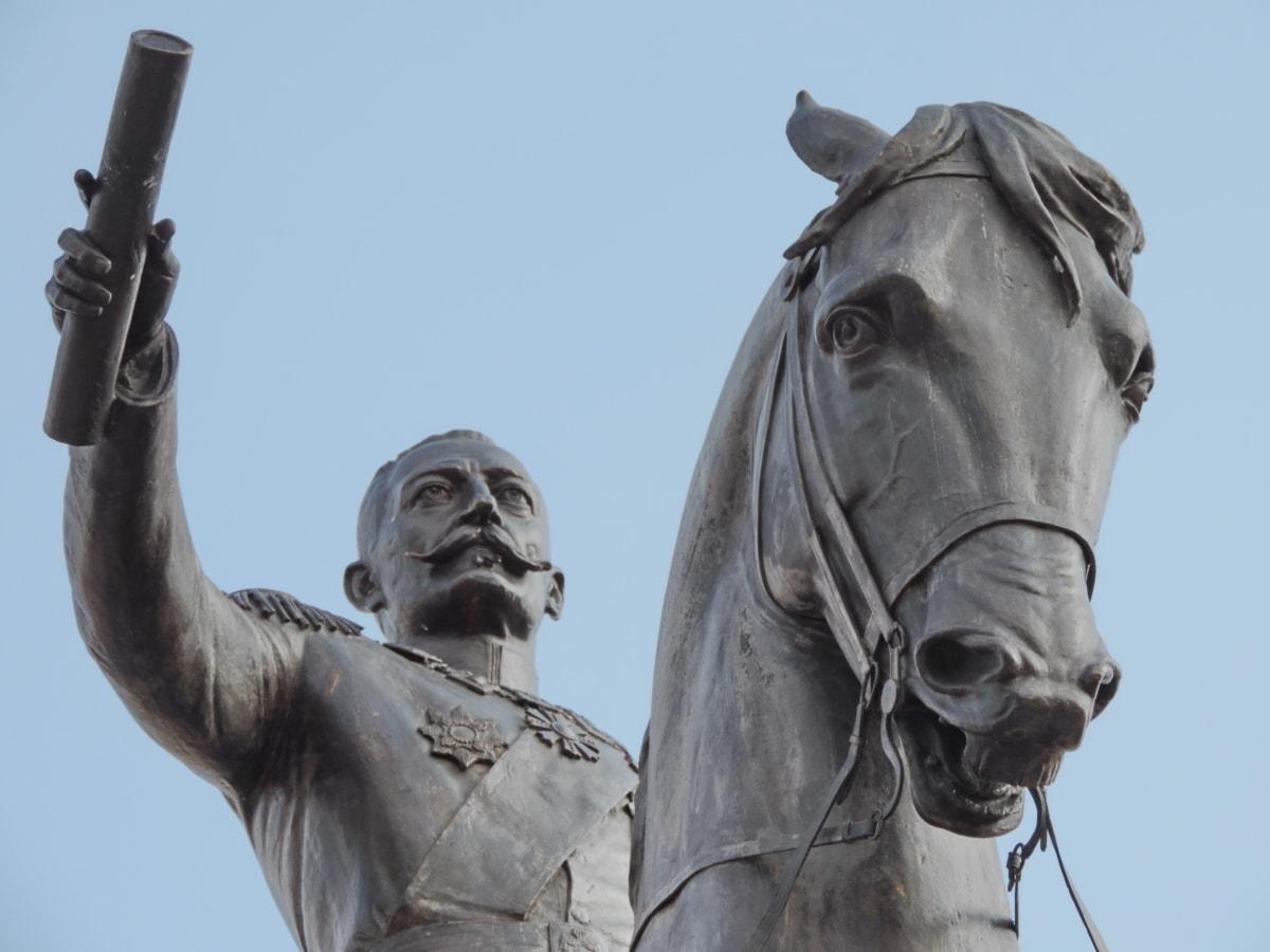 kunst, pronssi, historie, Kongen, Serbien, statue, skulptur, monument