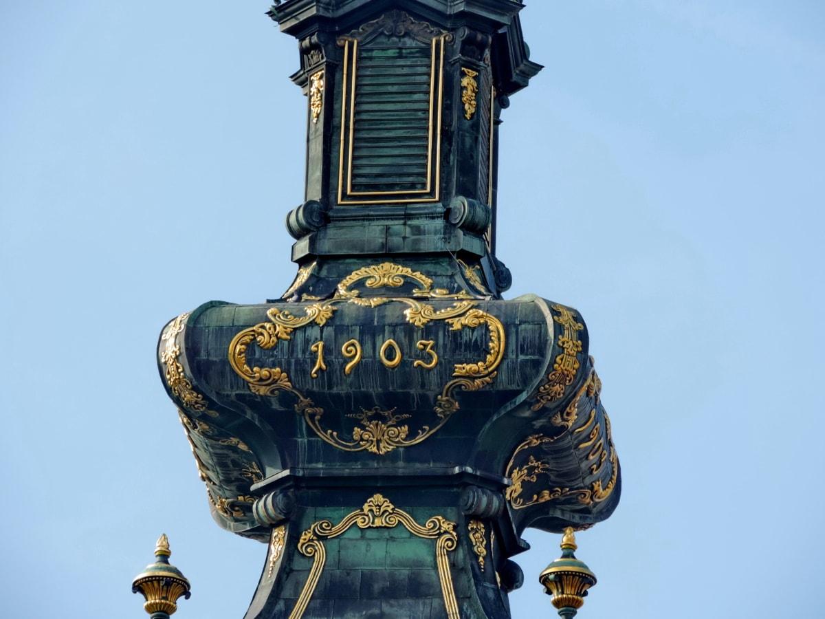 Arabesque, barock, kyrktornet, guld, ortodoxa, arkitektur, antika, religion
