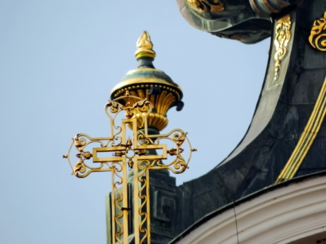 Arabesque, barock, Cross, guld, Skapa, Domkyrkan, religion, Dome