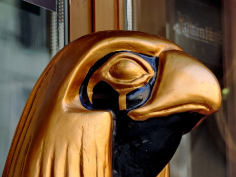 Egypt, bird, sculpture, religion, statue, face, mask, art