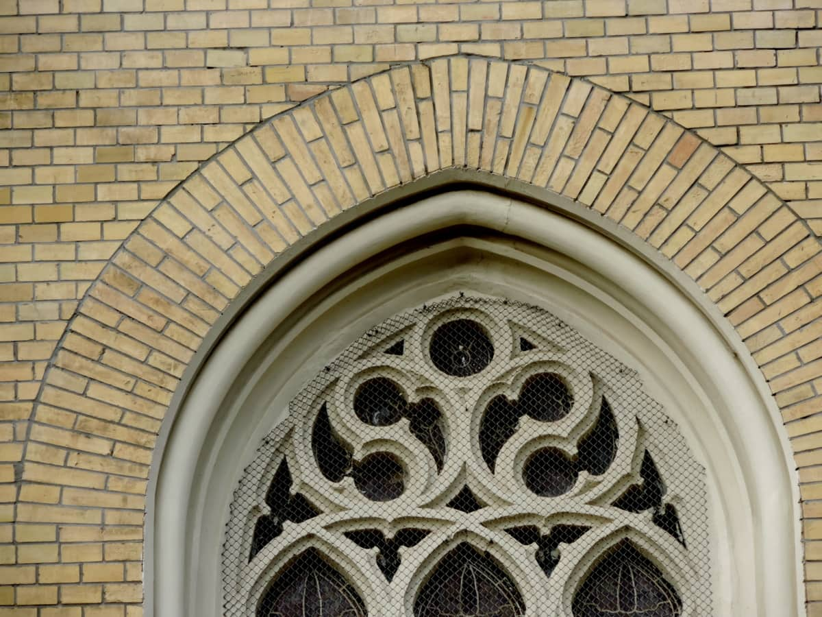 barokní, náboženské, kostel, rámec, okno, architektura, oblouk, budova