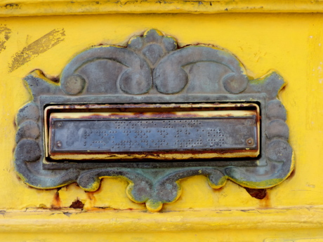 baroque, cast iron, mailbox, symbol, metallic, art, decoration, iron