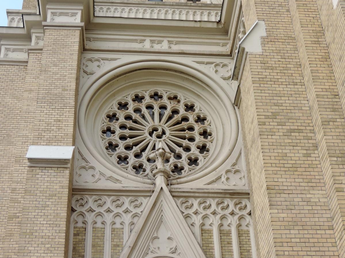 katolické, křesťanství, fasáda, Katedrála, náboženství, budova, architektura, kostel