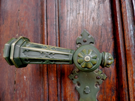 antique, brass, decorative, front door, handmade, keyhole, lock, door