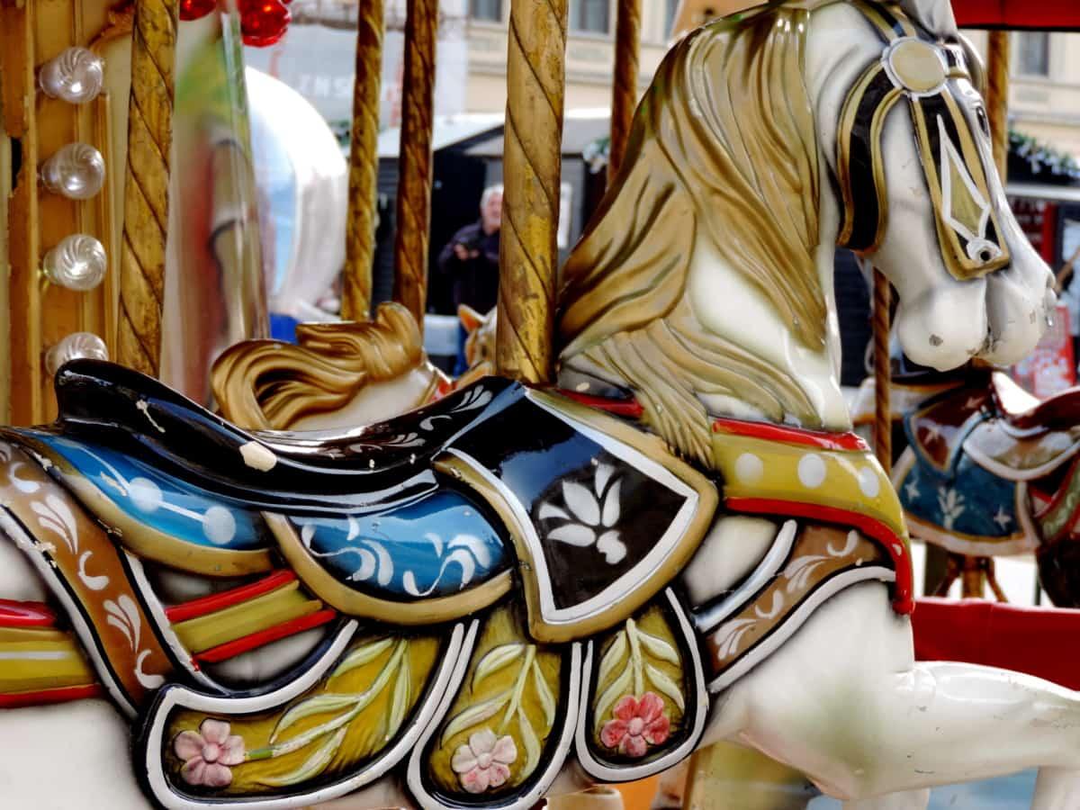 carousel, mechanism, ride, carnival, festival, celebration, fun, decoration