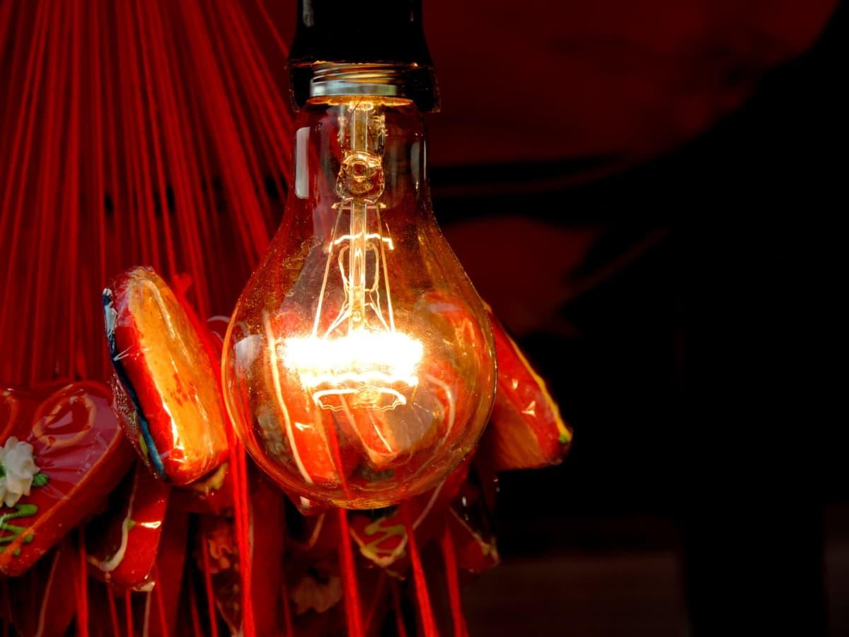 Glühbirne, Schatten, Glas, beleuchtet, Licht, hell, Dunkel, Feier
