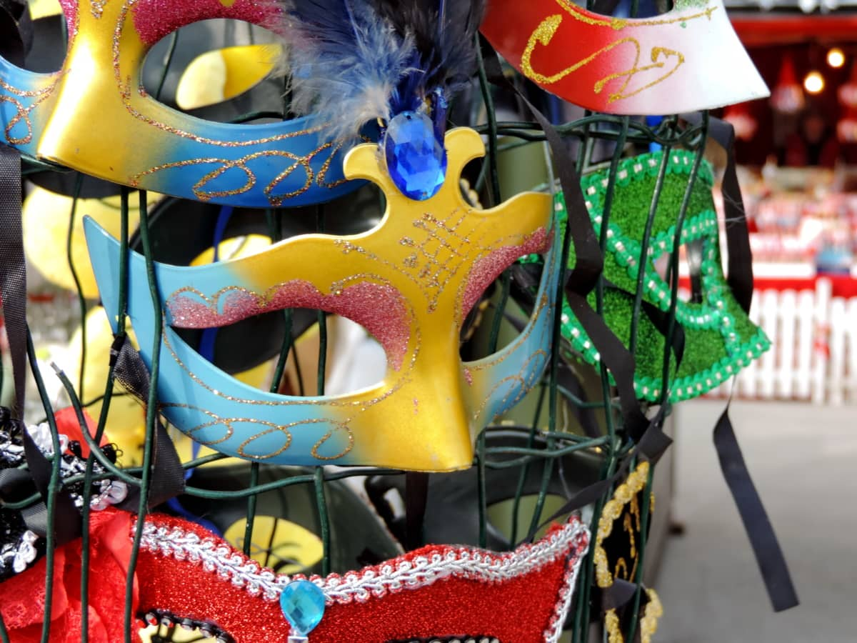 Karnevál, szórakozás, ruházat, Fesztivál, maszk, hagyományos, ünnepe, világos