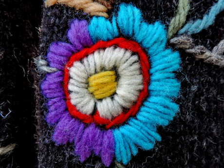handmade, textile, wool, flower, color, decoration, art, design